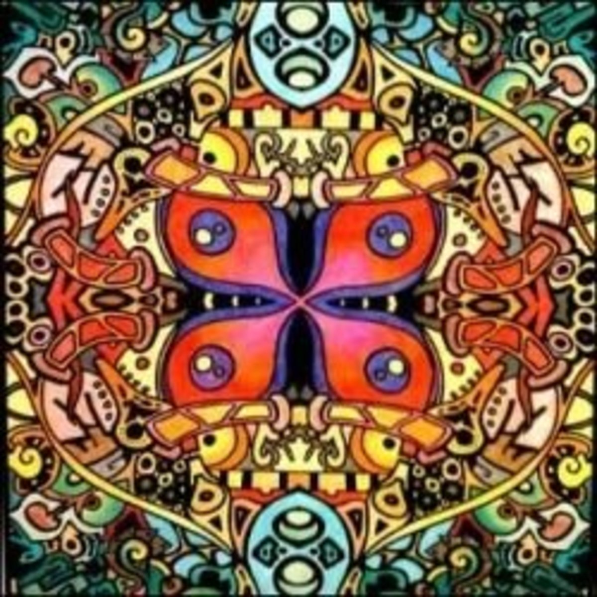 Photo: Kaleidoscope - Giant 22 X 32.5 Inch Line Art Poster by Stuff2Color (see how to buy info below).