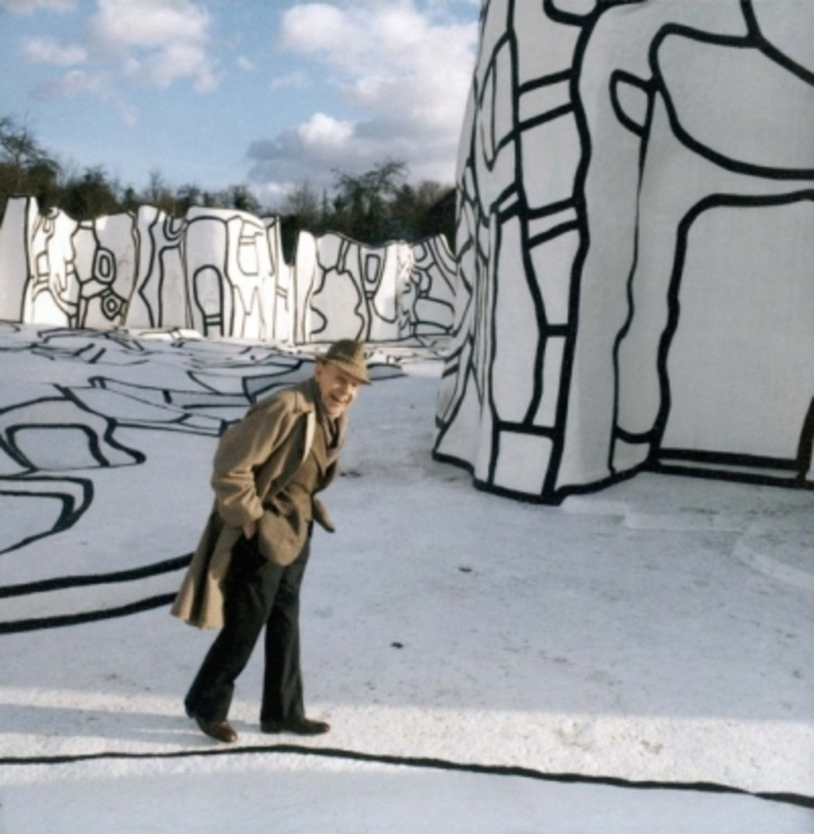 """""""The Blue Wall"""" by Jean Dubuffet"""