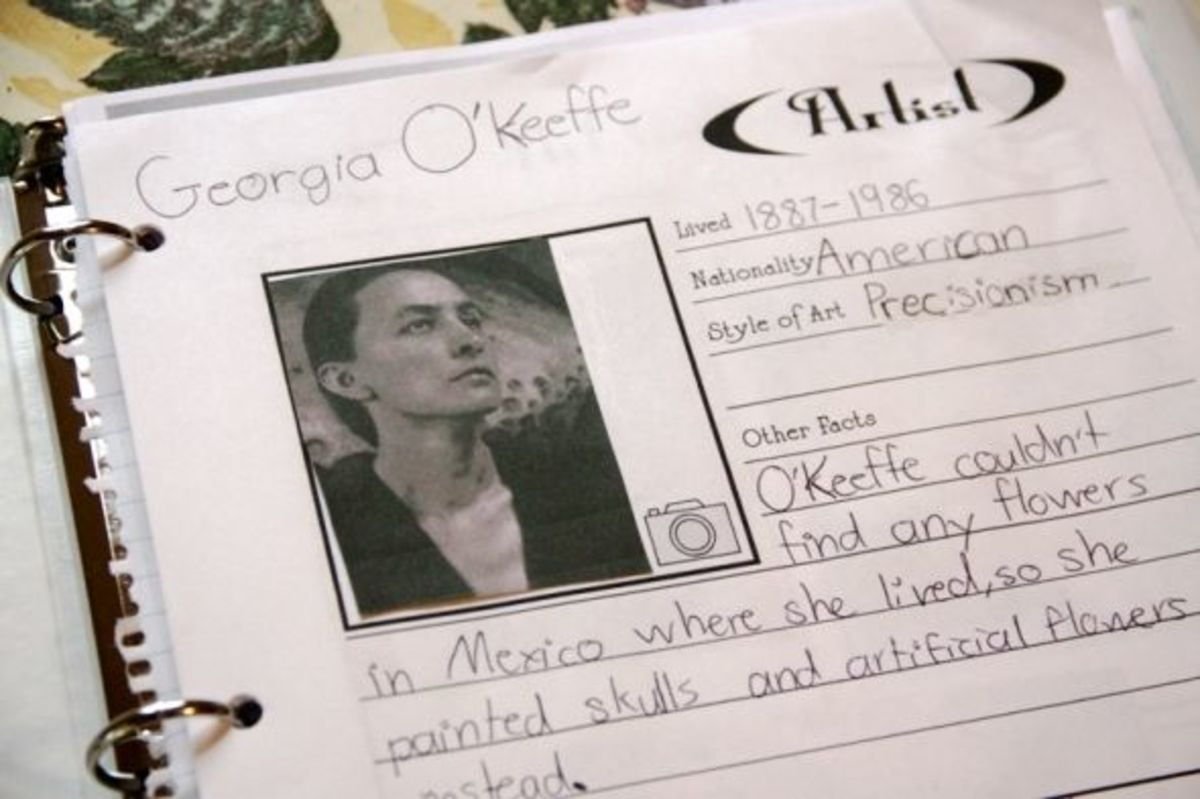 Georgia O'Keeffe Notebooking Page