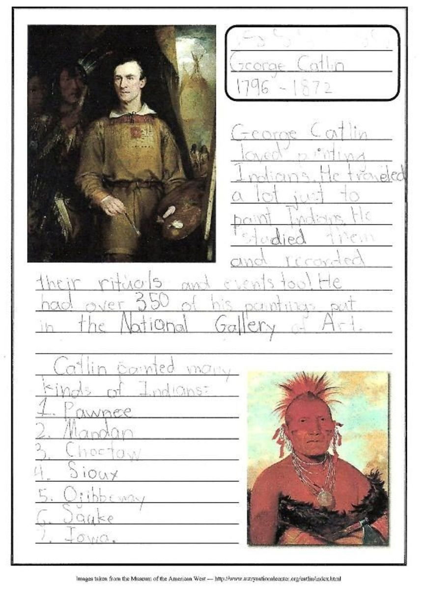 George Catlin Notebooking Page