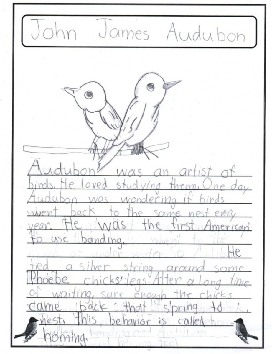 John James Audubon Notebooking Page