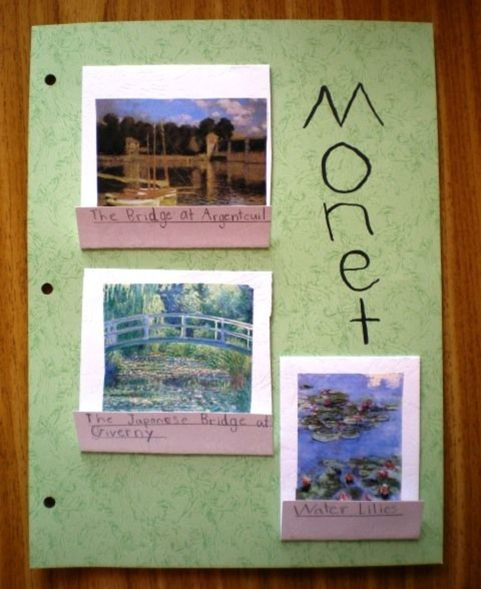 Monet Notebooking Page with Matchbooks
