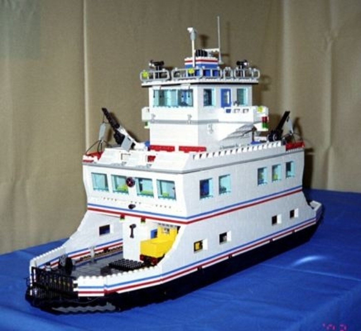 "29"" long car ferry holds 18 LEGO cars and trucks, full interior details, great play value"