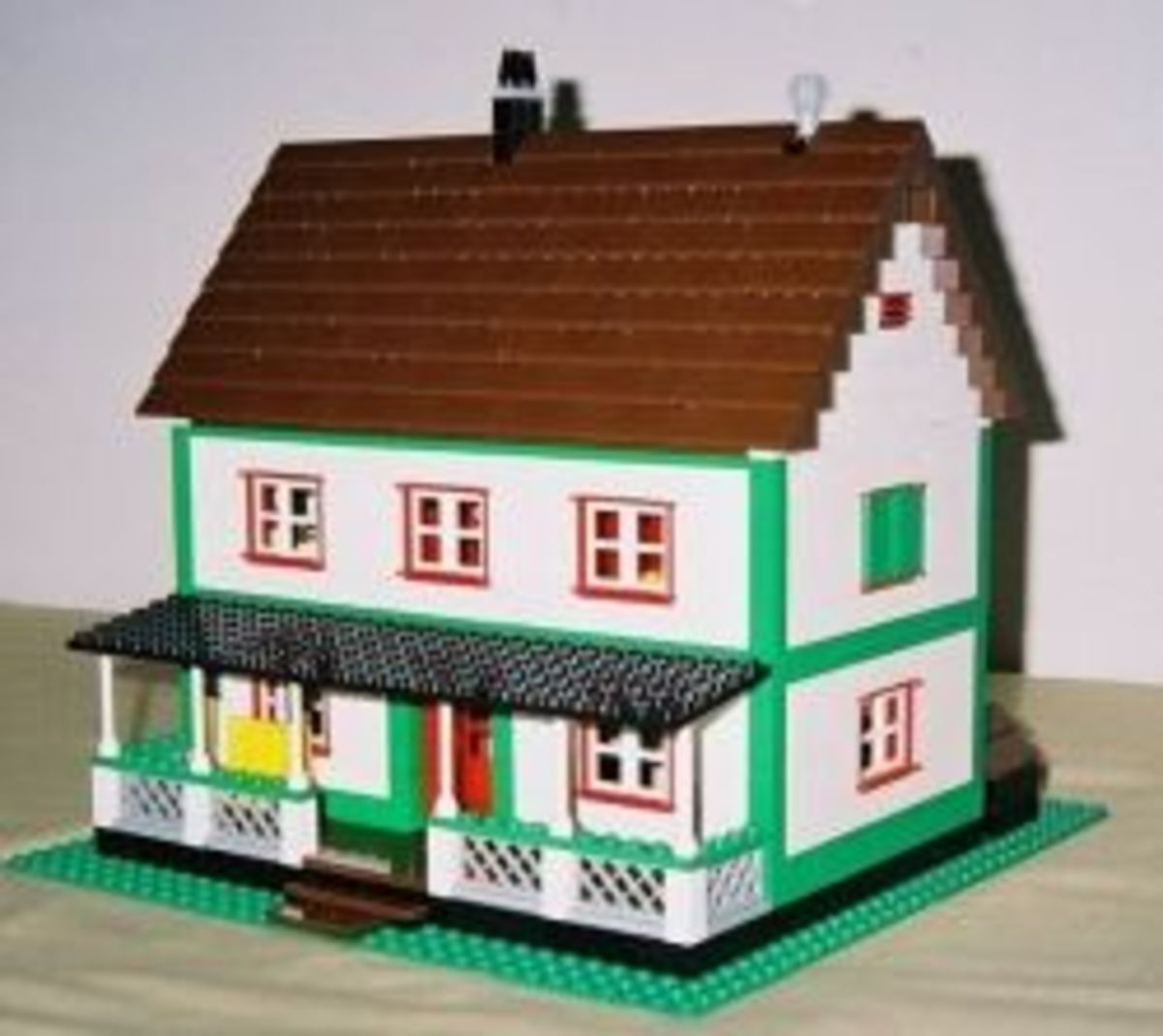 LEGO model of farmhouse