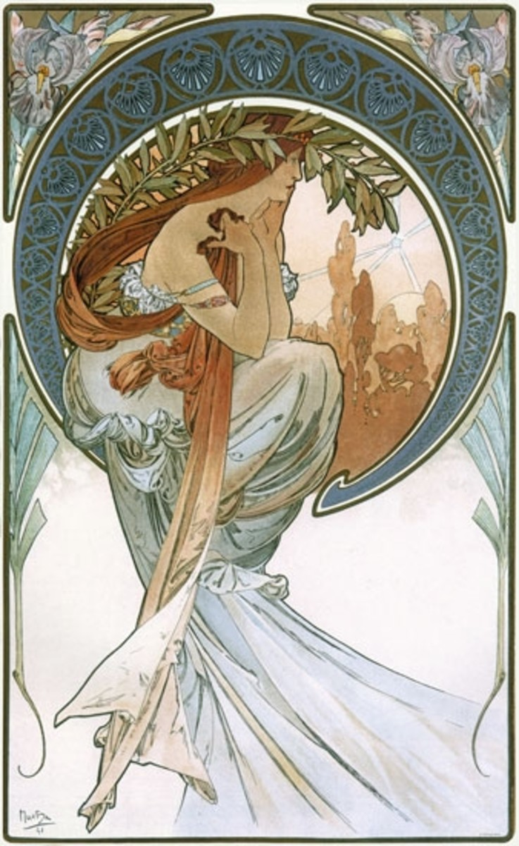 """""""Poetry"""" by Mucha"""