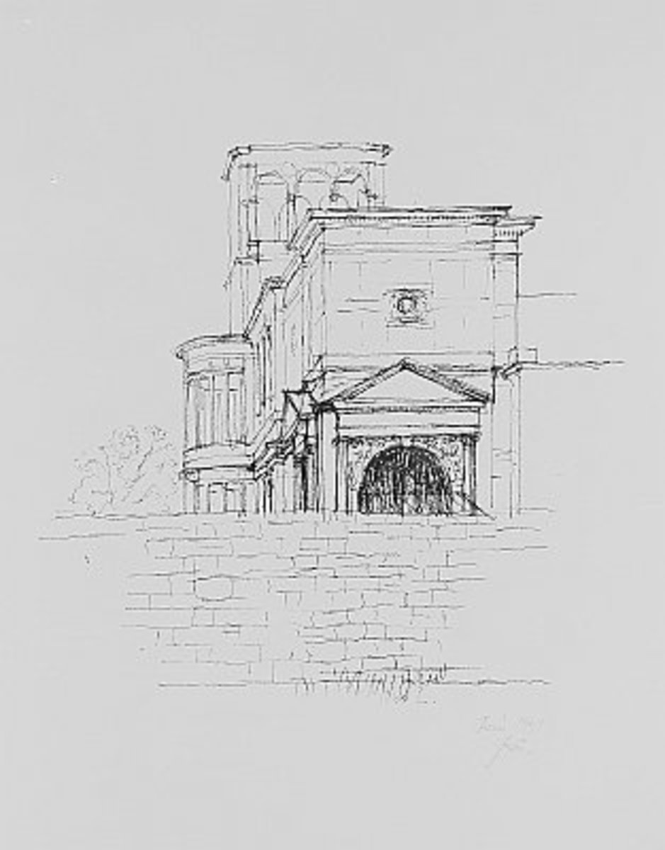 Villa sketch 1952 - before tearing down