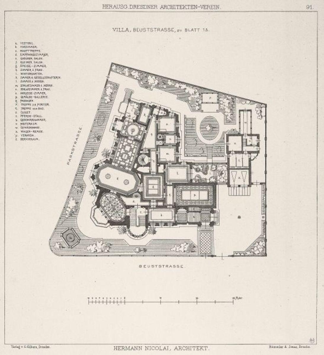 Plate # 51 Floor plan & list # for each room    Herman Nicolai Architekt