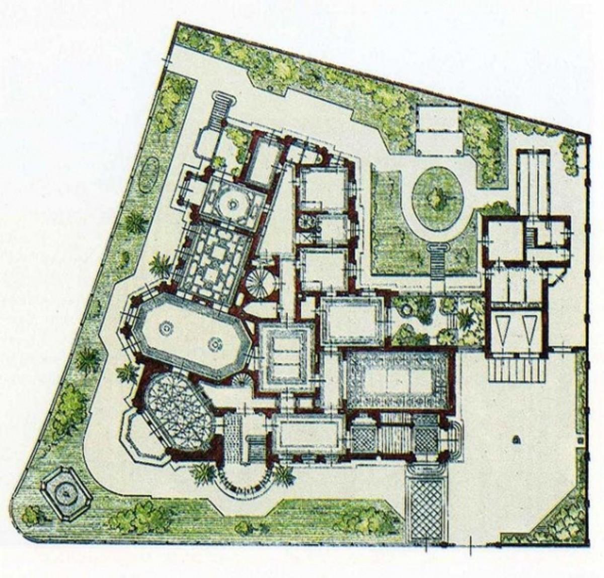 Original drawing by Russian Architect Harald Julius von Bosse