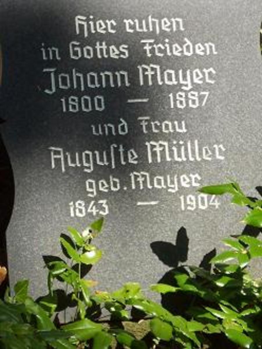 Johann Meyer grave stone (C)