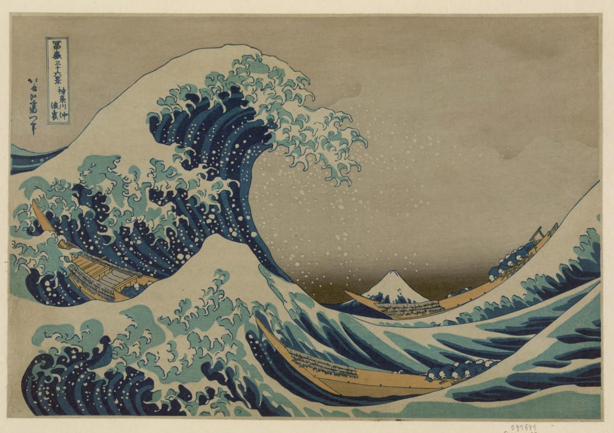 Kanagawa oki nami ura, (The great wave off shore of Kanagawa) by Katsushika Hokusai, 1760–1849