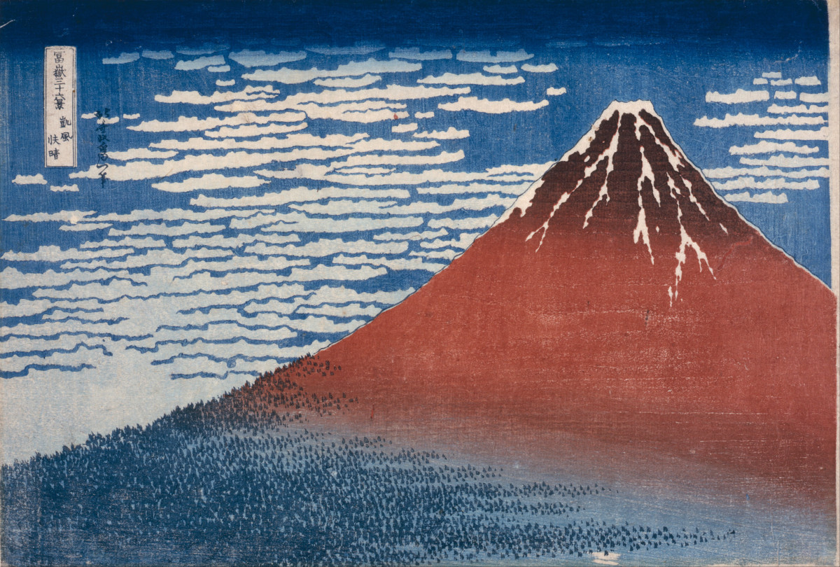 Katsushika Hokusai - Fine Wind, Clear Morning (color woodblock print)  by Katsushika Hokusai, 1760–1849