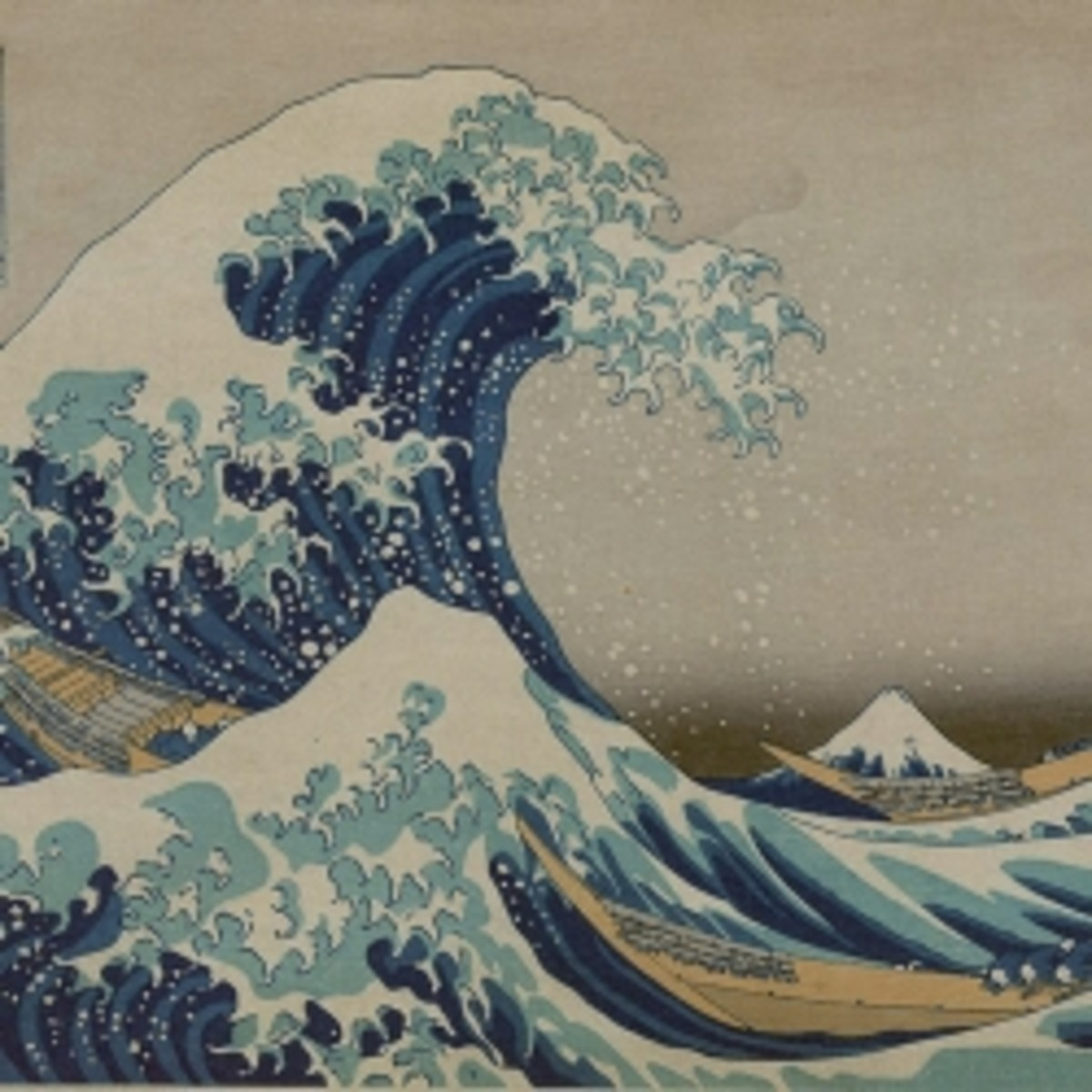 "a crop of the ""The Great Wave of Kanagwa"" by Hokusai"