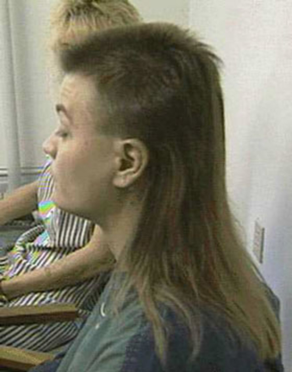 mullet hair style photo