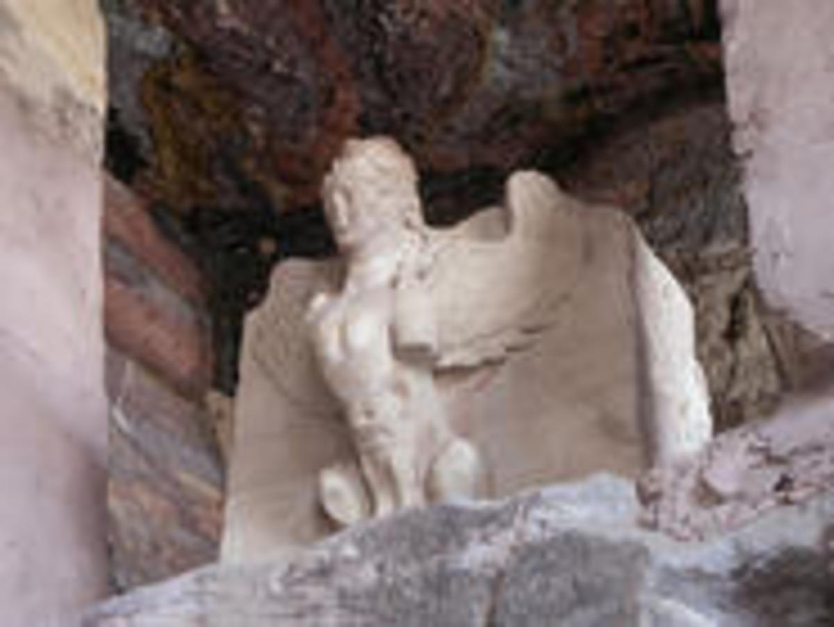 A carving of the winged Tammuz. Photo: B. Tamimi