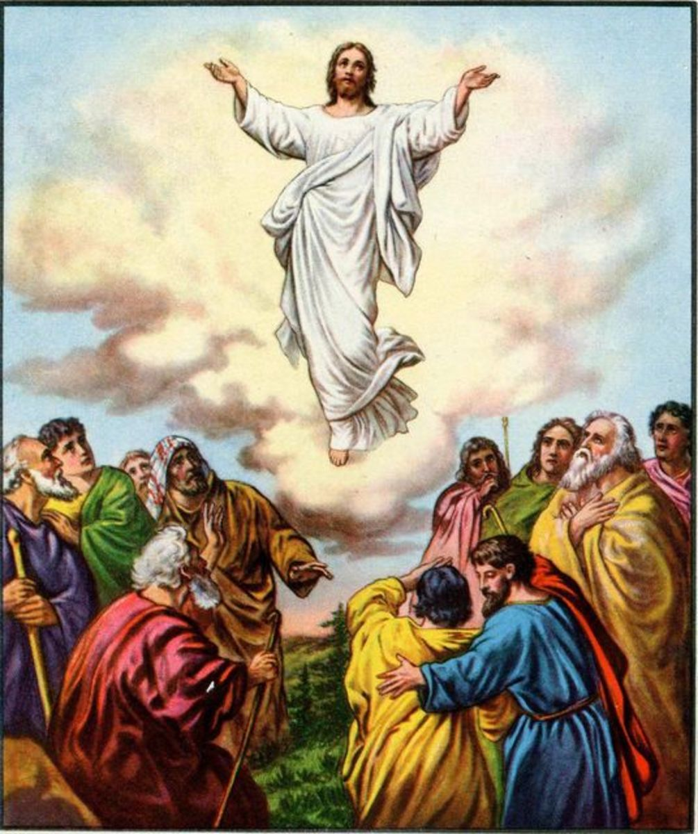 Jesus ascends - illustration by La Vista Church.