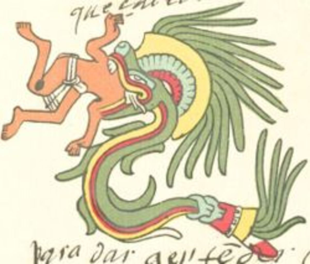 Quetzalcoatl, from the Codex Telleriano-Remensis.