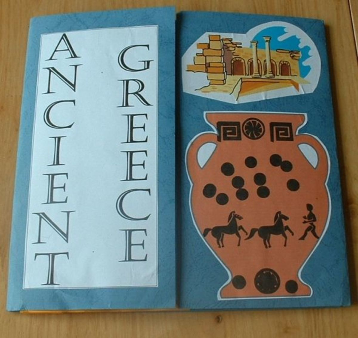 cover of ancient Greece lapbook