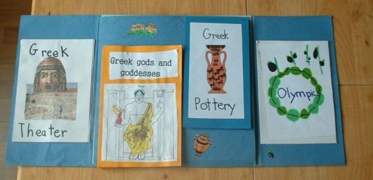 inside ancient Greece lapbook