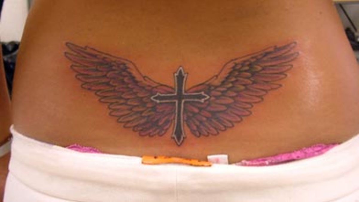Flickr Images: The Tattoo Studio: wings n cross Tattoo