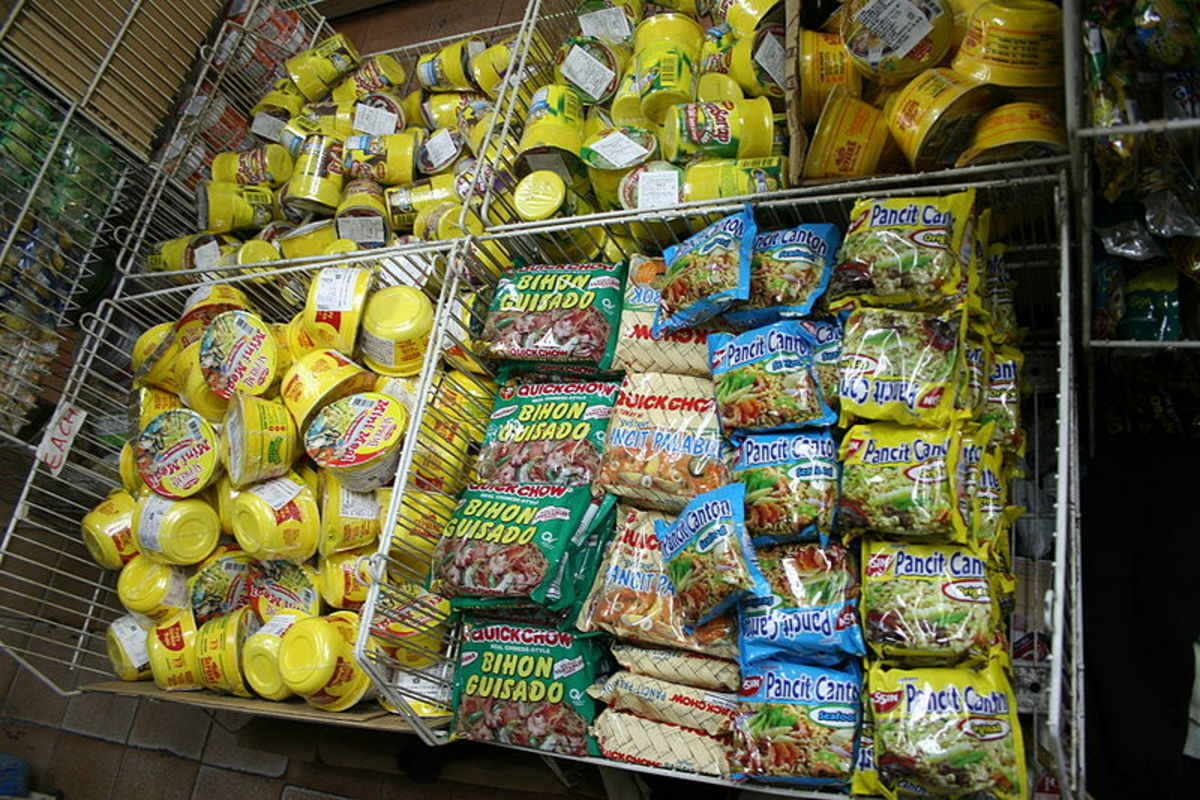 Insatant noodles for sale in Taiwan at My Friend Grocery.