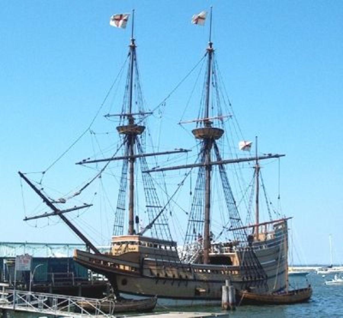 The Mayflower II in Plymouth Harbor, Massachusetts