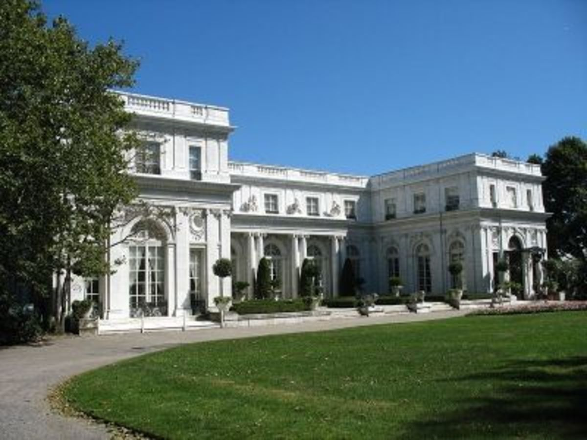Rosecliff, a Newport Mansion in Rhode Island