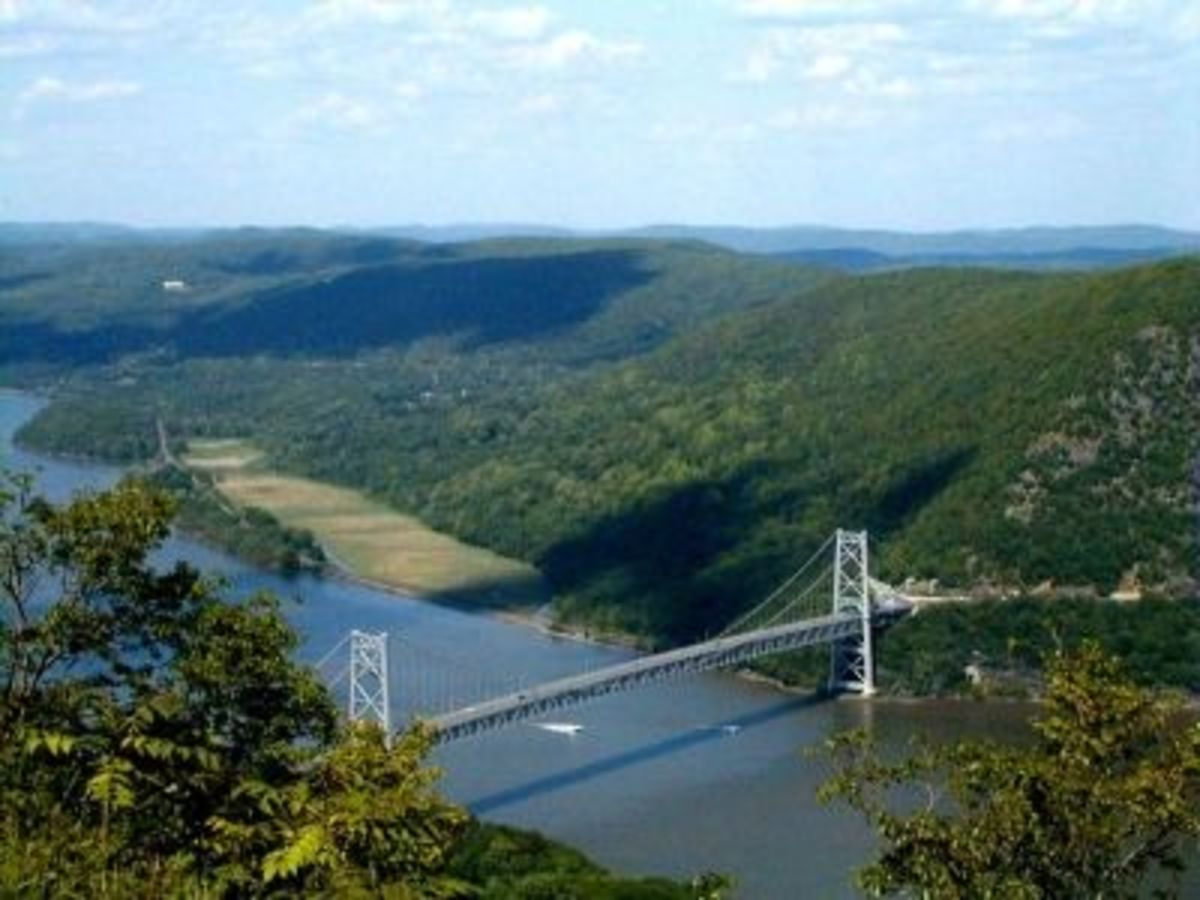 Bear Mountain Bridge in the Hudson River Valley of New York