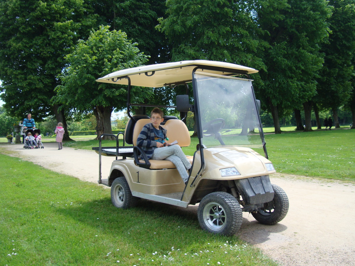 You can hire an electric vehicle to discover 7 historical points  at Chateau de Valencay's forest of the Prince
