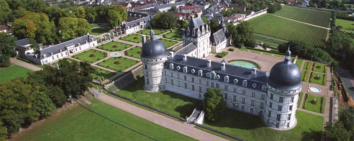 Aerial view of the Chateau de Valençay