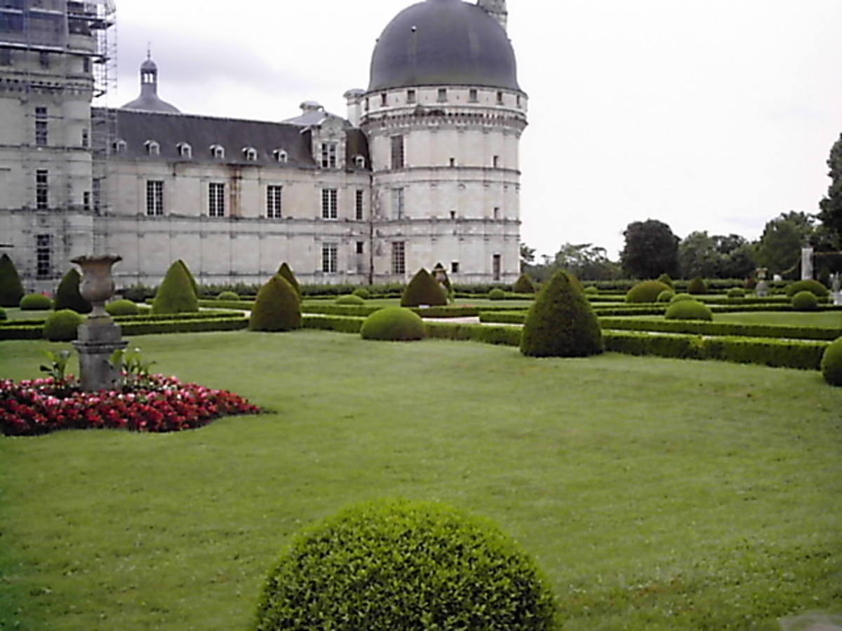 The park and gardens of the castle of Valencay extends over a 53 acre domain