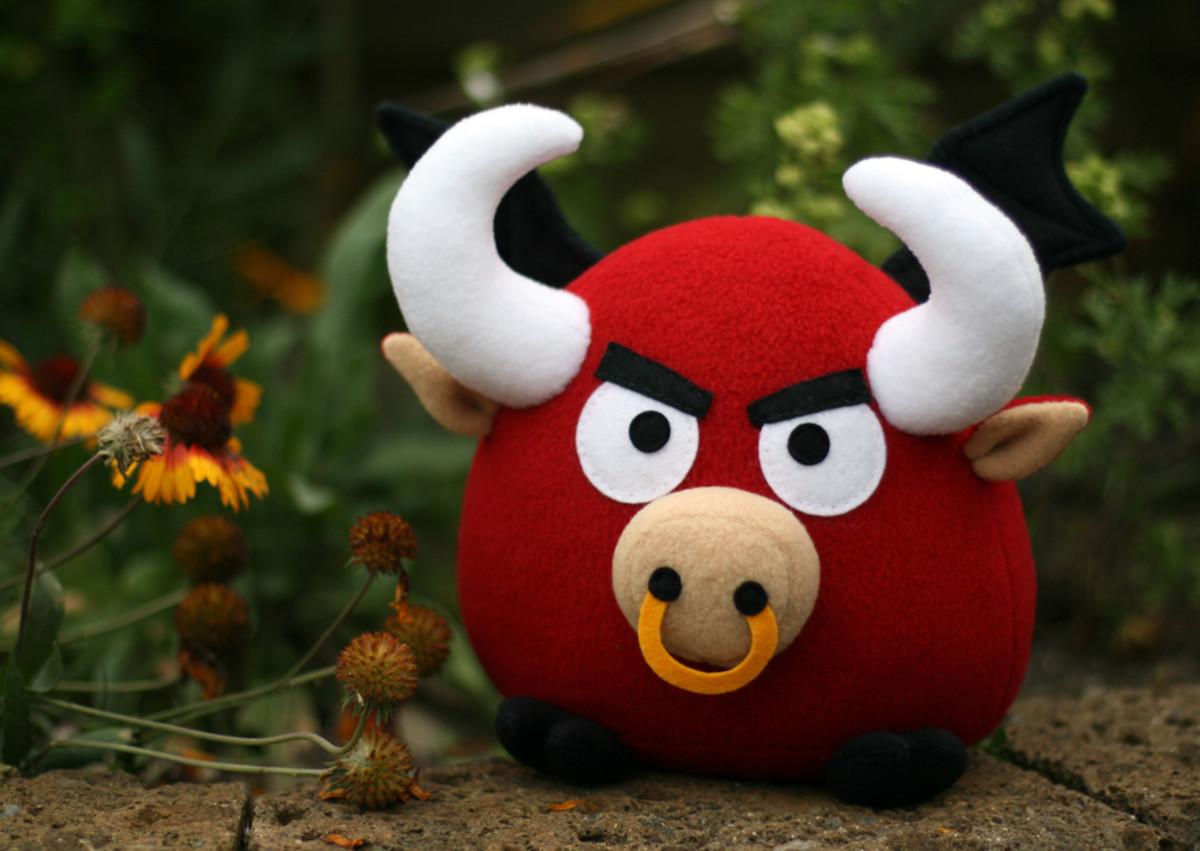 bull soft toy
