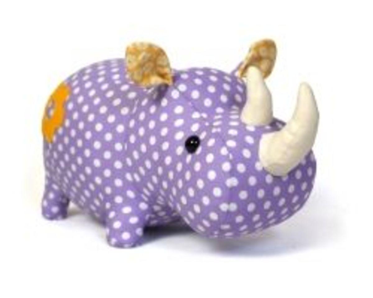 rhino toy sewing pattern