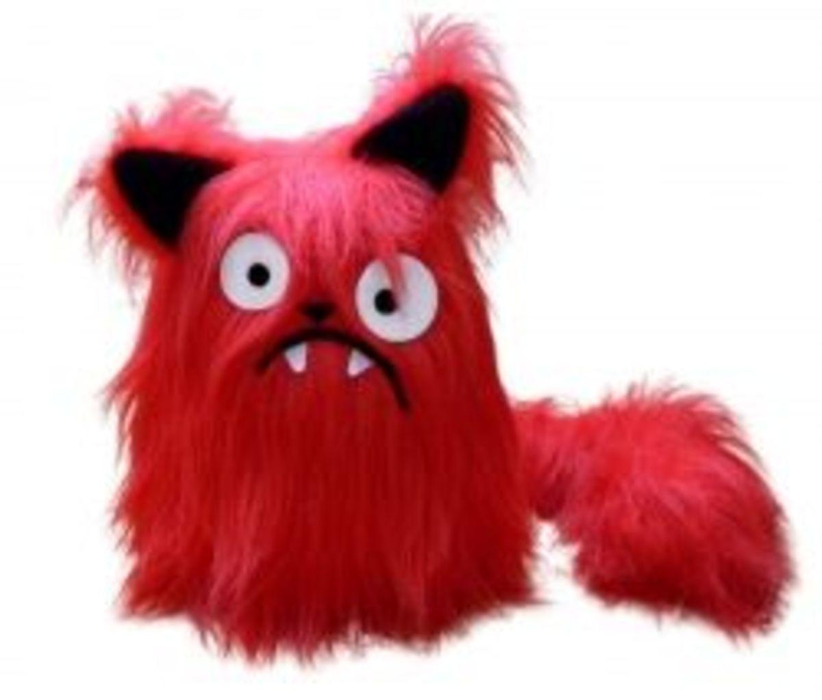 stuffed animal pattern cat