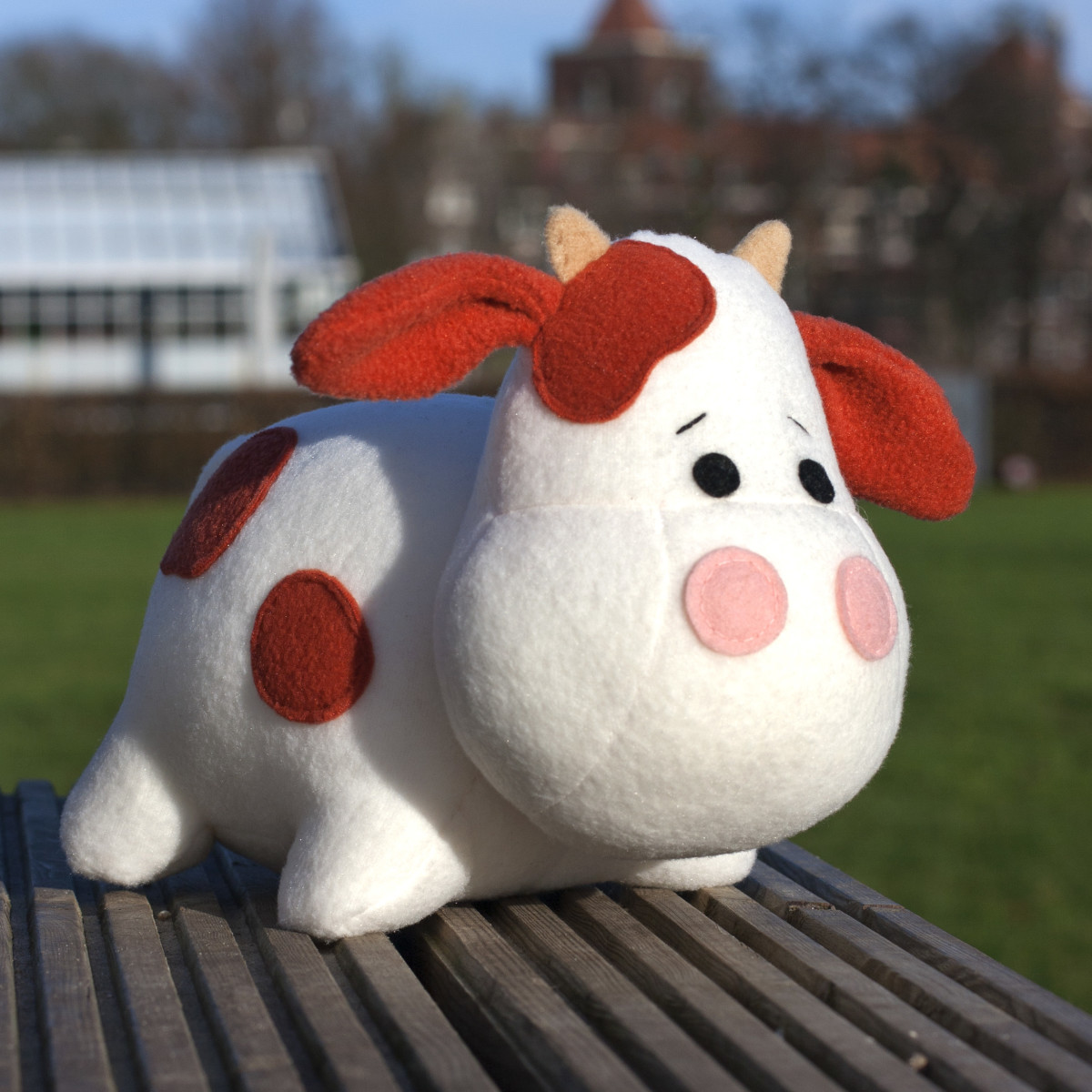 soft toy Cow sewing pattern