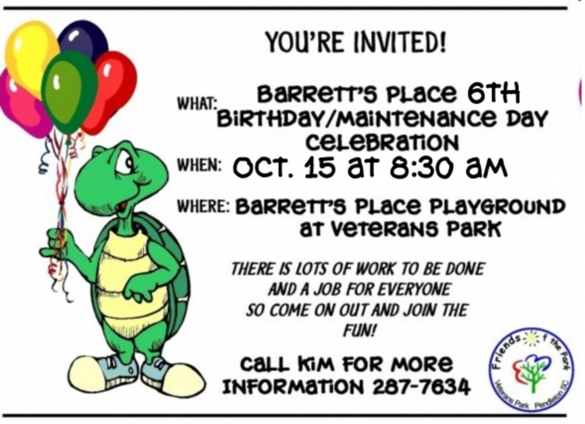 Barretts Place Playground Birthday/Maintenance Day