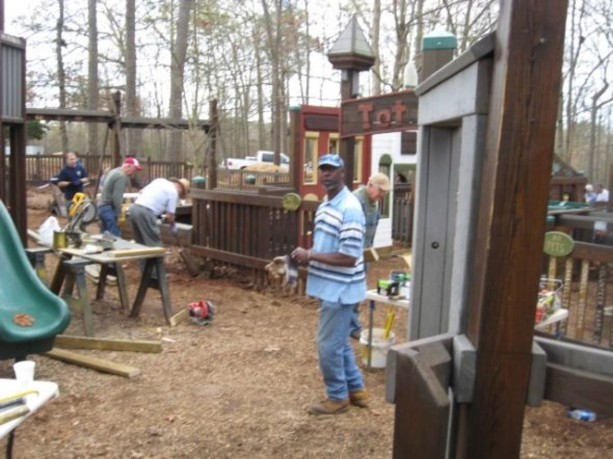 Barrett's Place Playground gets a Face Lift from the ground up.