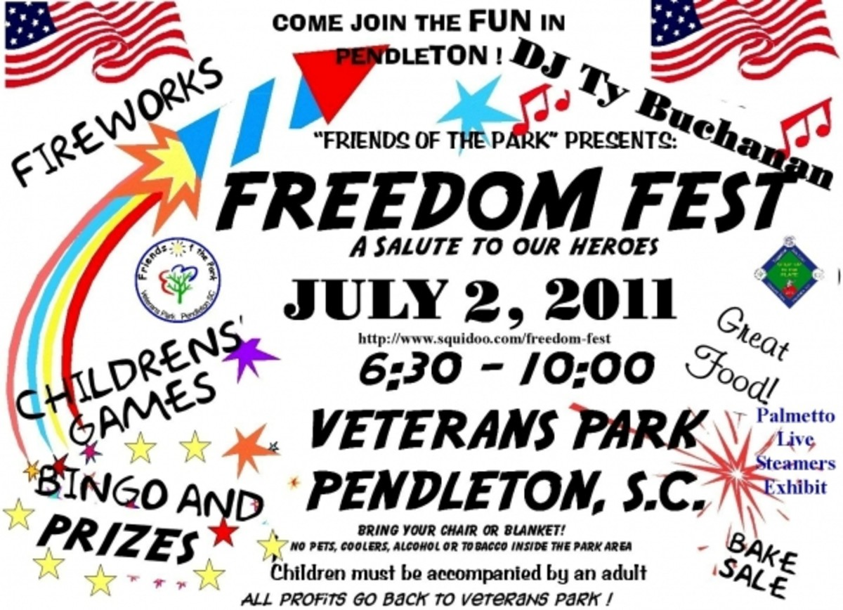 FREEDOM FEST JULY 2 AT VETERANS PARK