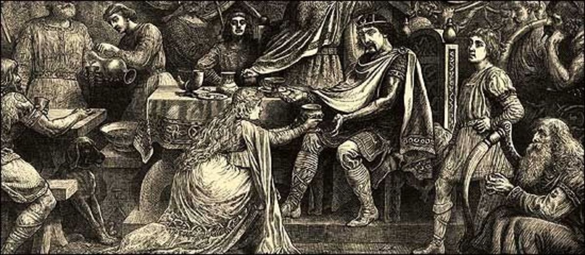 Vortigern accepts the Wassail Cup