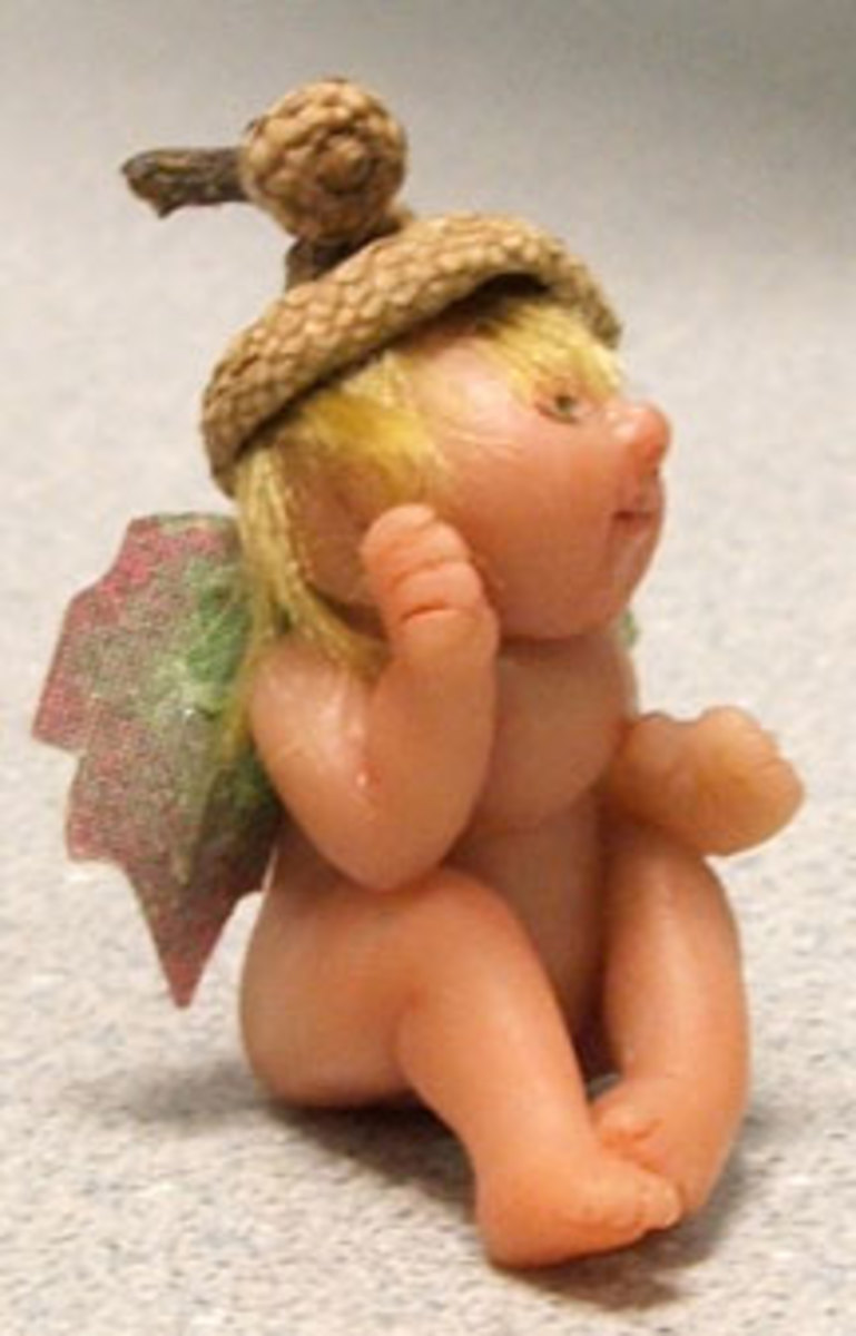The author sculpted this 1.5-inch fairy from Premo clay.