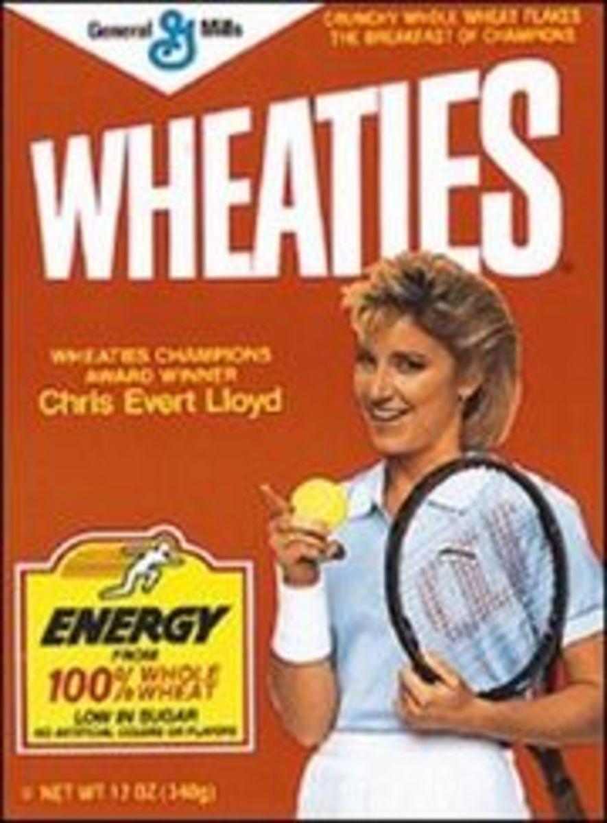 Chris Evert, tennis champion.
