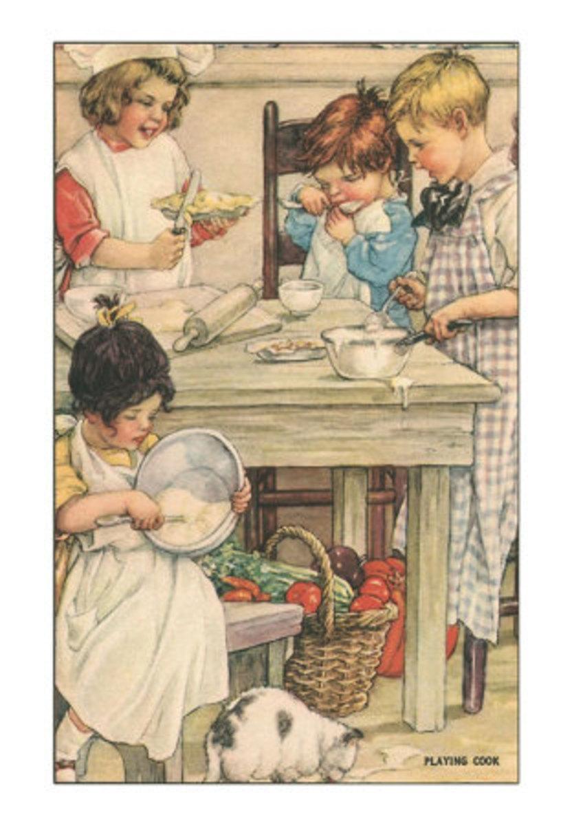 Children Playing in the Kitchen
