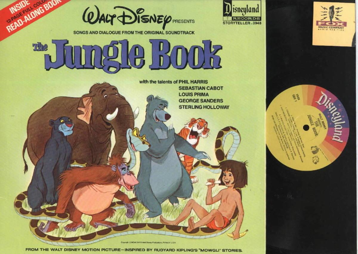 "Walt Disney's ""Jungle Book"" Disneyland Records Storyteller ST 3948 12"" LP Vinyl Record (1967) Gatefold Cover w/ Illustrated Book"