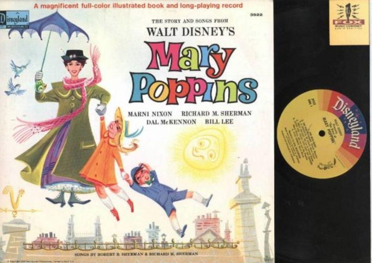 "Walt Disney's ""Mary Poppins"" Disneyland Records Storyteller ST-3922 12"" LP Vinyl Record (1964) Gatefold Cover w/ Illustrated Book"