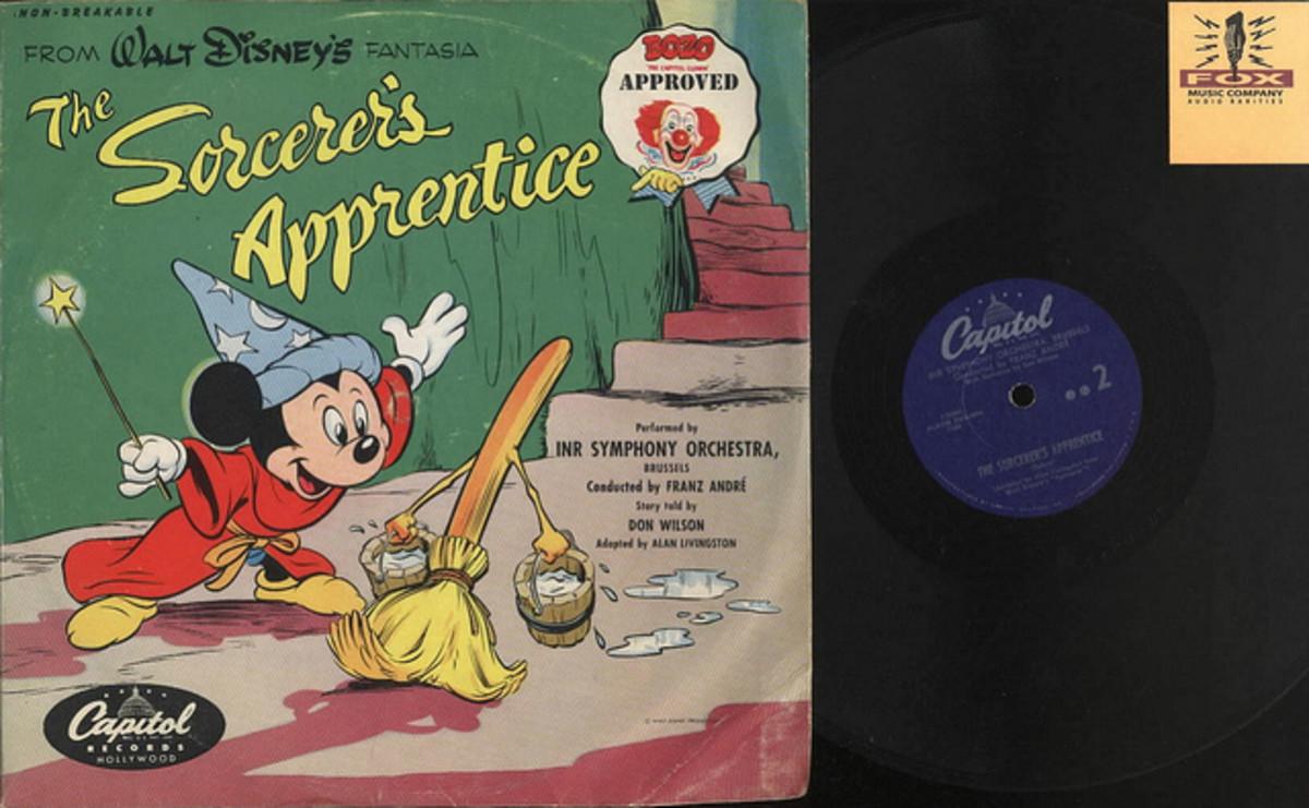 "Walt Disney's Fantasia ""The Sorcerer's Apprentice"" Capitol Records 7-50241 Walt Disney 78's Bozo Approved"