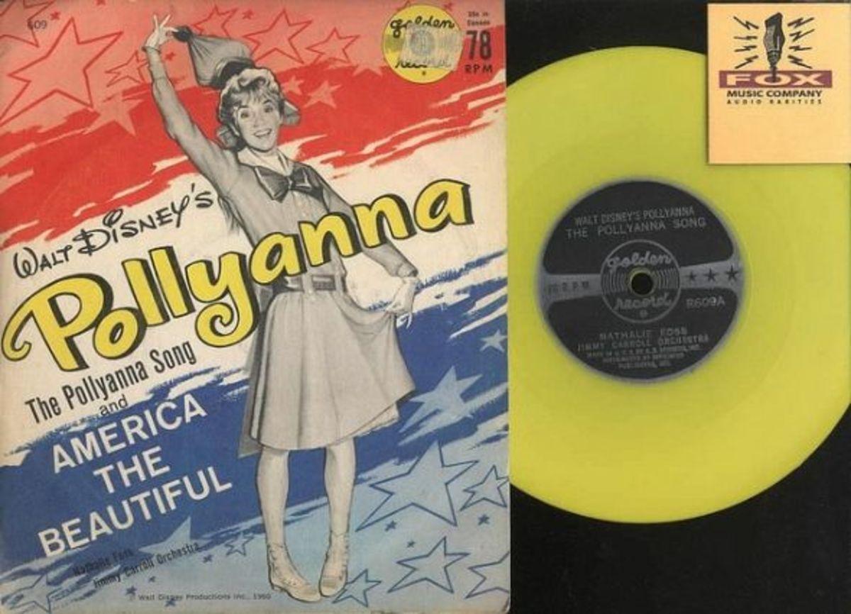 Walt Disney's Pollyanna Golden Records R609 78 rpm Yellow Vinyl Childrens Record