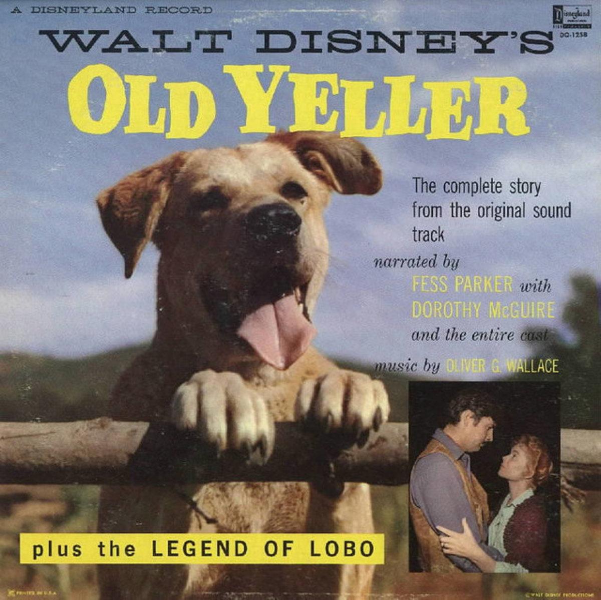 "Walt Disney's ""Old Yeller"" Disneyland Records DQ-1258 12"" LP Vinyl Record"