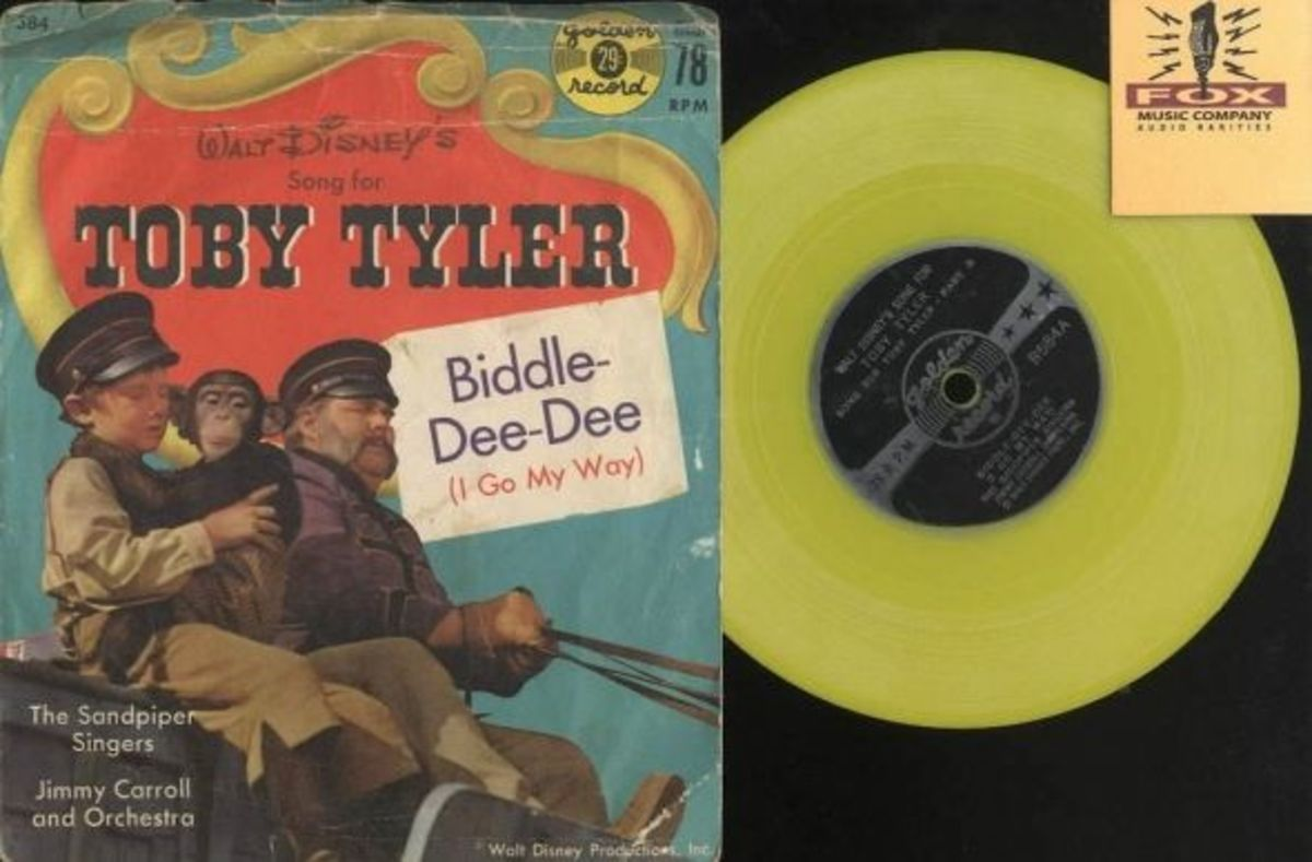 "Walt Disney's ""Song for Toby Tyler"" Golden Records R584  78 rpm Yellow Vinyl Record"