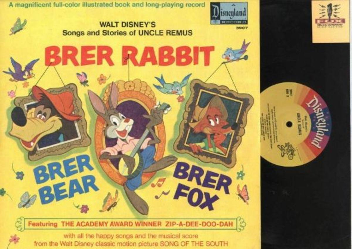 "Walt Disney ""Songs & Stories of Uncle Remus"" Disneyland Records Storyteller ST-3907 12"" LP Vinyl Record (1970) Gatefold Cover w/ Illustrated Book"