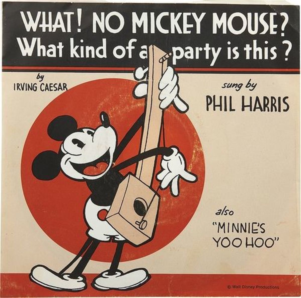"""Mickey Mouse """"What No Mickey Mouse"""" b/w """"Minnies Yoo Hoo"""" Buena Vista, F-477 7"""" EP Vinyl Record (1970) 45 rpm"""