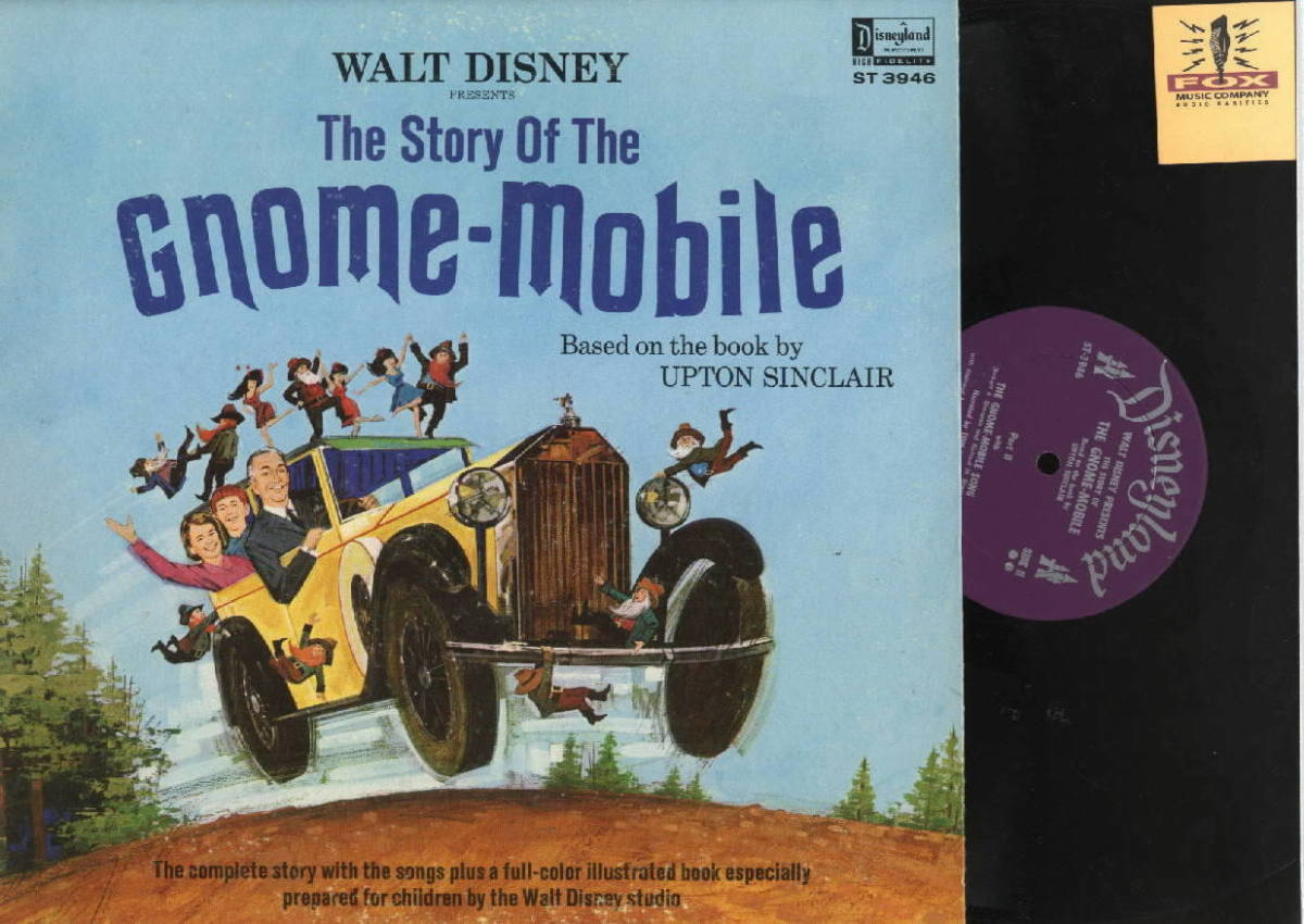 "Walt Disney Presents the Story of the ""Gnome Mobile"" Disneyland Records ST 3946 12"" LP Vinyl Record Gatefold Cover w/ Illustrated Book"